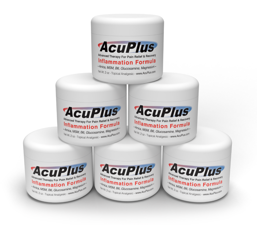 (6-Pack) AcuPlus Pain Relief Cream, 2 oz. Jar
