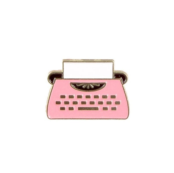 Cartoon Typewriter Enamel Pins - Gifts for Writers and Authors