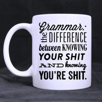 Grammar Coffee Mug - Funny Author Writer Gift