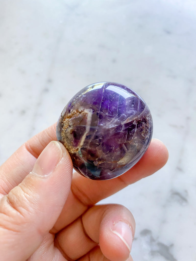 Amethyst from Morocco (palm stone)