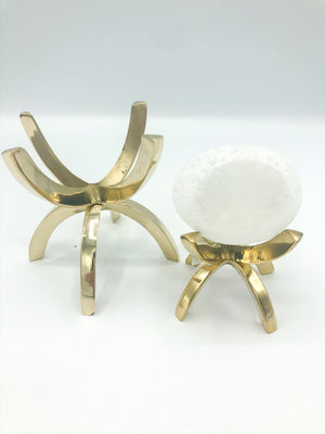 Brass Mineral Spider Stands