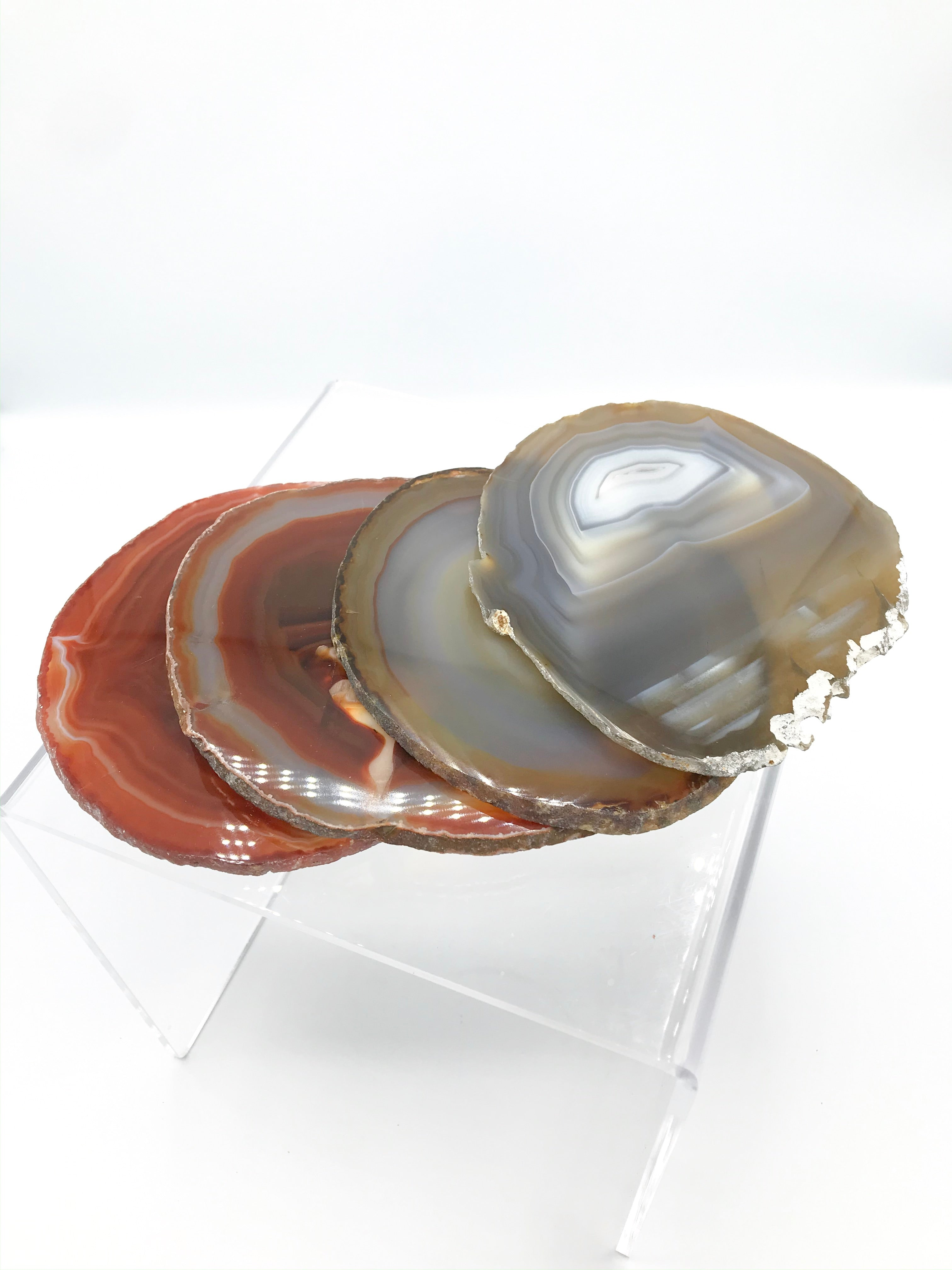 Agate Coaster Set of 4