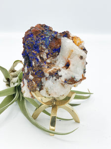 Azurite with Quartz
