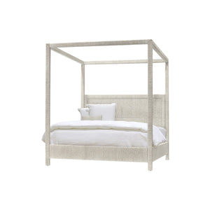 Woodside Canopy King Bed White Sand