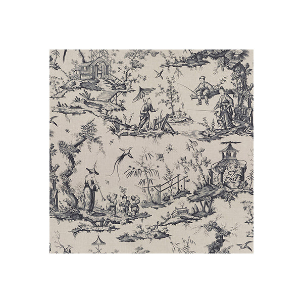 Charcoal Toile Wallpaper