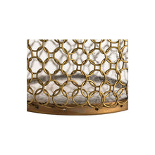 Load image into Gallery viewer, Gold Mesh Decanter Set