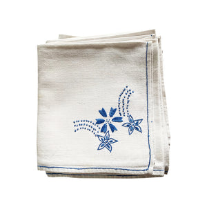 Hand Embroidered Napkins, set of 12