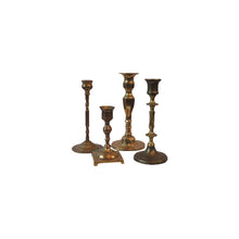 Load image into Gallery viewer, Assorted Vintage Brass Candlesticks, Set of 4