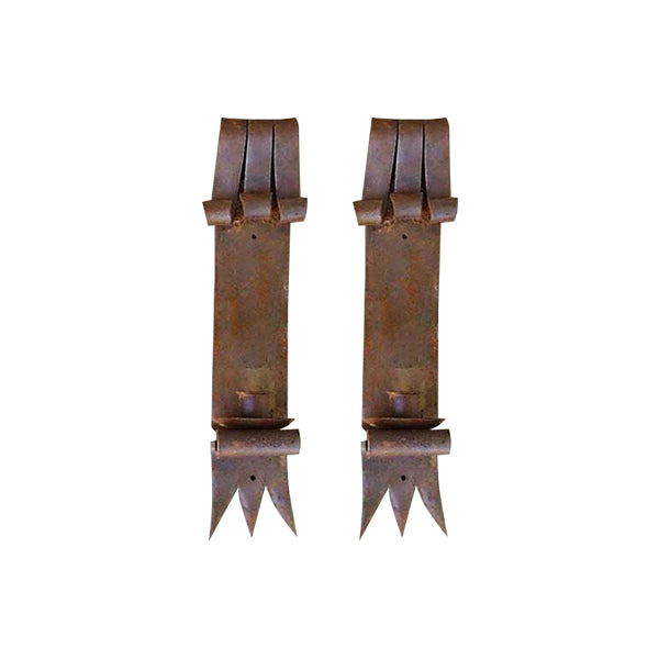 Vintage Iron Wall Sconce Set