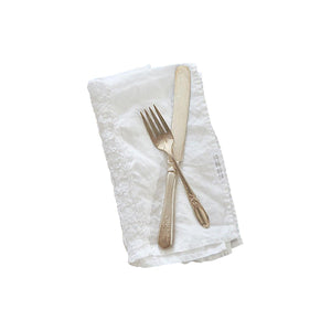 Lace Inset Napkins, Set of 4