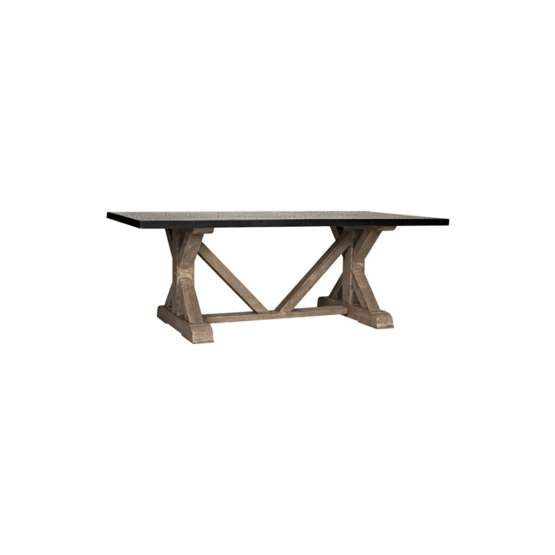 Trestle X Base Dining Table