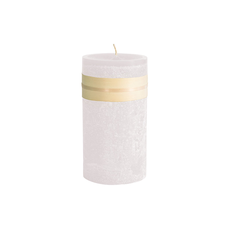 Melon White Pillar Candles, set of 4
