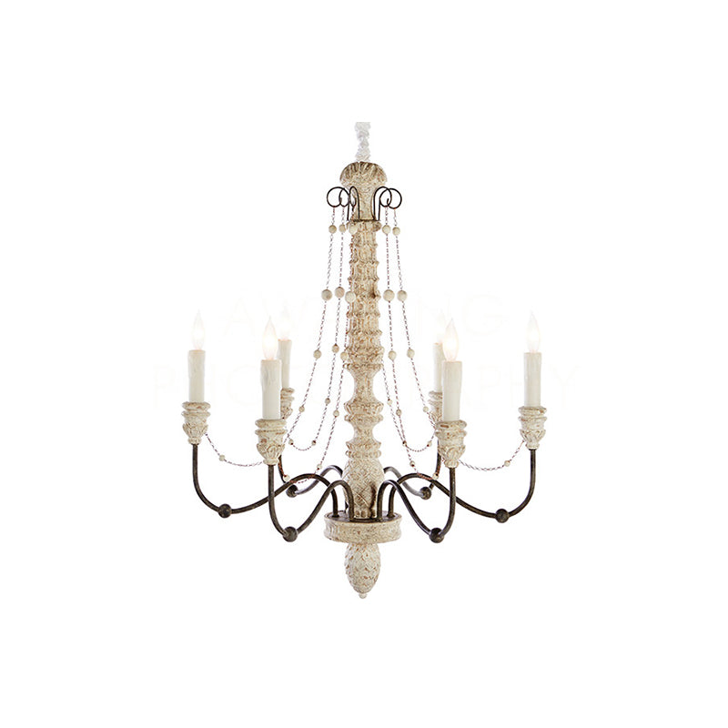 Helena Small White Chandelier