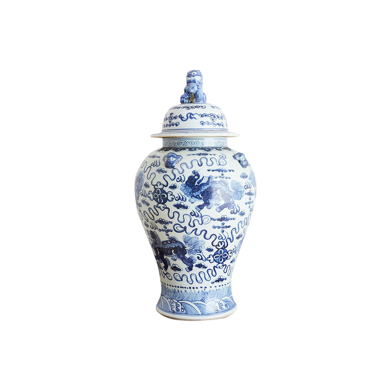 Large Chinese Blue and White Porcelain Ginger Jar