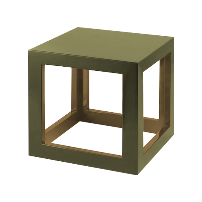 Light Olive/ Lichen Green Small Cube Table