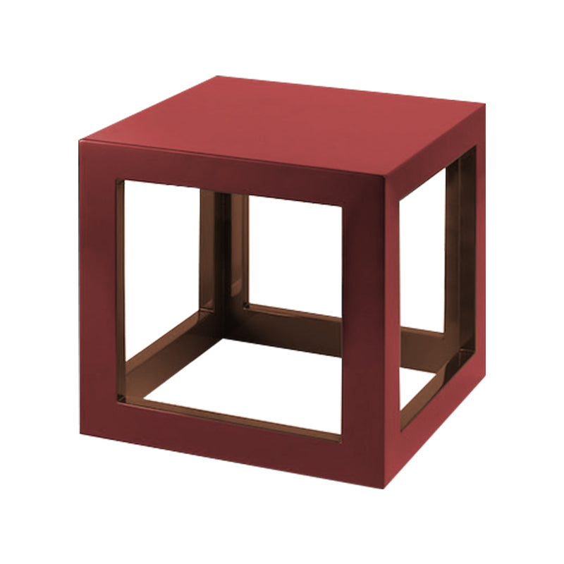 Cabernet Red/Tobacco Leaf Brown Small Cube Table
