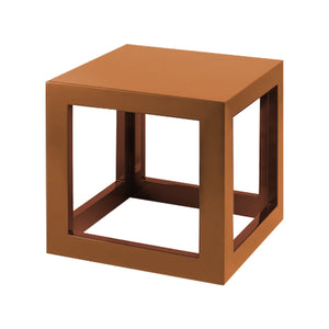 Burnt Coral/Burnt Clay Small Cube Table