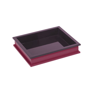 Eggplant/Chinaberry Crimson Small Rectangular Tray