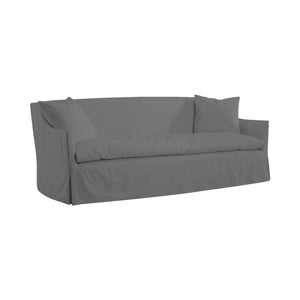 Gray Slipcovered Sofa