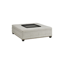 Load image into Gallery viewer, Upholstered Ottoman with Tray