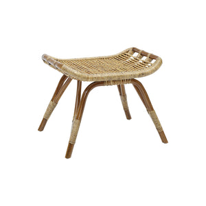 Rattan Footstool Natural