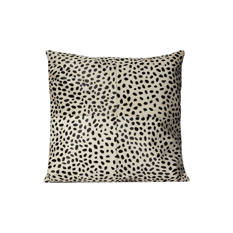 Spotted Hair-on-Hide Pillows, set of 2