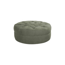 Load image into Gallery viewer, Tufted Grey Ottoman