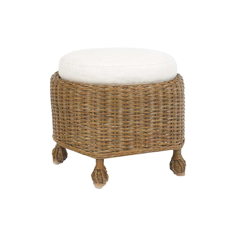 Helena Round Ottoman with Cushion