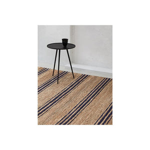 Indigo Striped Jute Rug