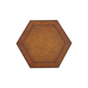 Leather Hexagon Table