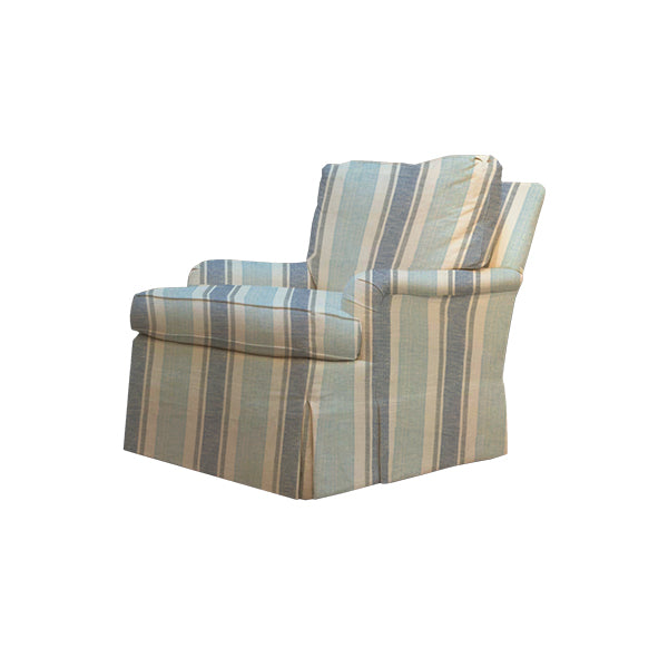Blue Striped Arm Chair