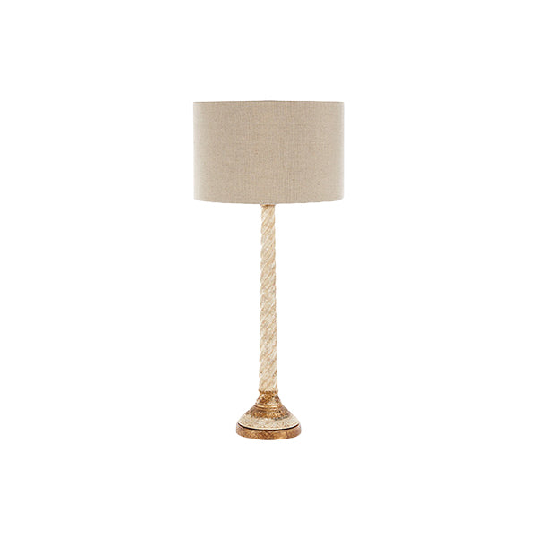 Chipped Gold Lamp with shade