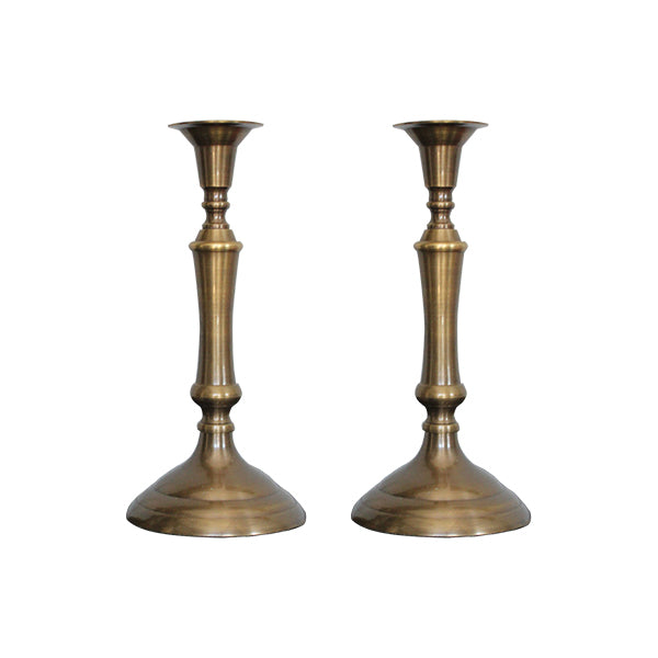Brass Antique Candle Holder Set