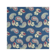 Load image into Gallery viewer, Blue Paisley Pillow