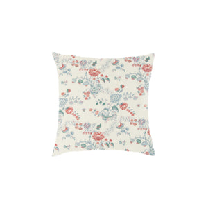 "20"" square Throw Pillows in Boutique Coral/Blue - Set of 2"