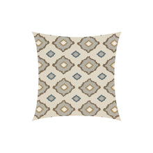 Load image into Gallery viewer, Embroidered Geometric Throw Pillow