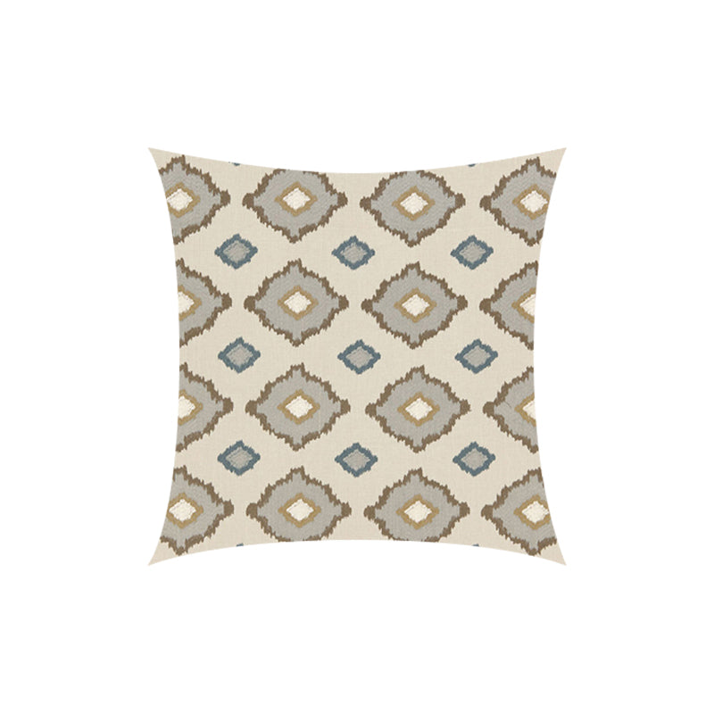 Embroidered Geometric Throw Pillow