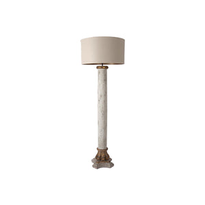 White Washed Column Floor Lamp