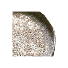 Load image into Gallery viewer, Silver Foil Woven Tray