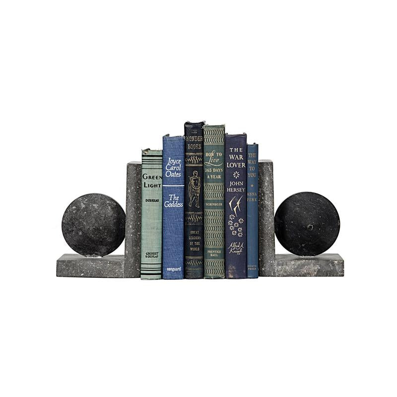 Dark Marble Bookends