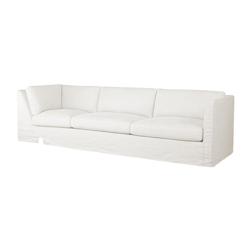 Tristan Slipcovered Cornering Sofa in White Cloud