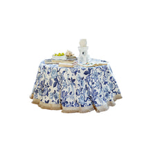 Load image into Gallery viewer, Huntington Gardens Bleu Marine Table Skirt