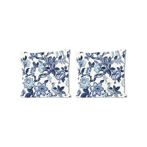 Huntington Gardens Bleu MarinePillows, Set of 2