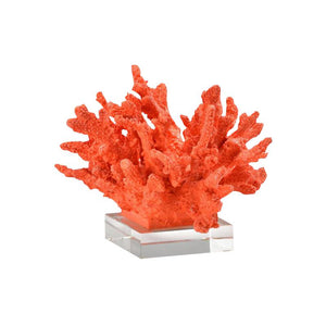 Coral Rojo with Crystal Base