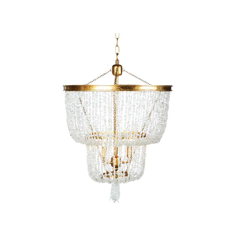 Crystal Two Tier Chandelier