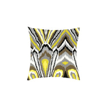 Load image into Gallery viewer, Custom Flamestitch Ikat Pillows, Set of 2