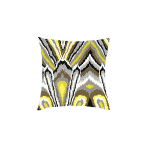Custom Flamestitch Ikat Pillows, Set of 2
