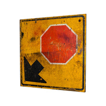 Load image into Gallery viewer, Industrial Wooden Stop Sign