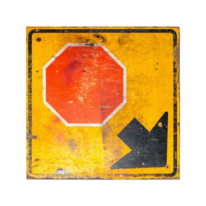 Industrial Wooden Stop Sign