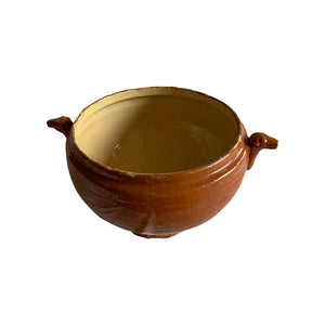 Cassolet Pot w/ dog head handles